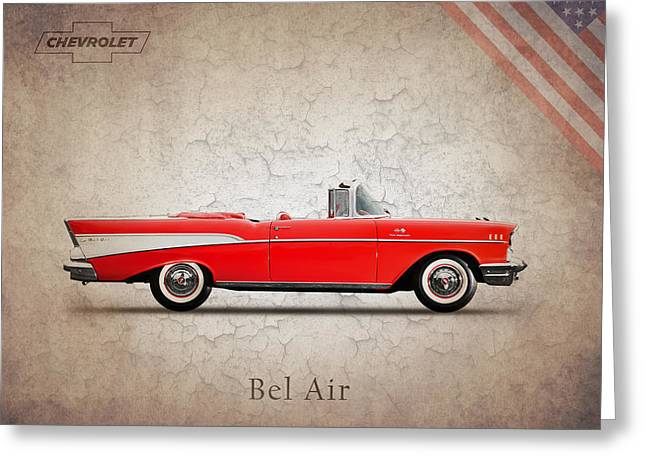 Chevrolet Greeting Cards - Chevrolet Bel Air Convertible 1957 Greeting Card by Mark Rogan