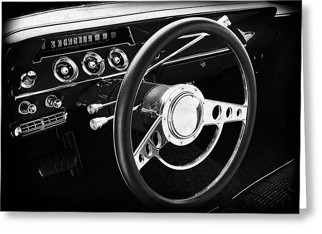 Chevrolet Bel Air Interior Greeting Card by Mark Rogan