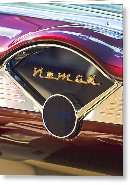 Nomads Greeting Cards - Chevrolet BelAir Nomad Dashboard Greeting Card by Jill Reger