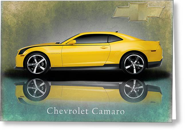Chevrolet Photographs Greeting Cards - Chevrolet Camaro Greeting Card by Mark Rogan