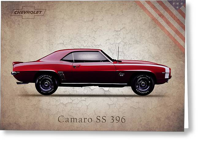 Ss Greeting Cards - Chevrolet Camaro SS 396 Greeting Card by Mark Rogan