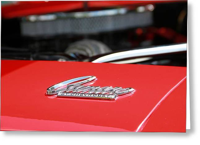 1968 Camaro Greeting Cards - Chevrolet Camaro Under The Hood Greeting Card by Dan Sproul
