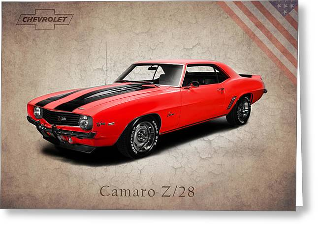 Chevrolet Greeting Cards - Chevrolet Camaro Z 28 Greeting Card by Mark Rogan