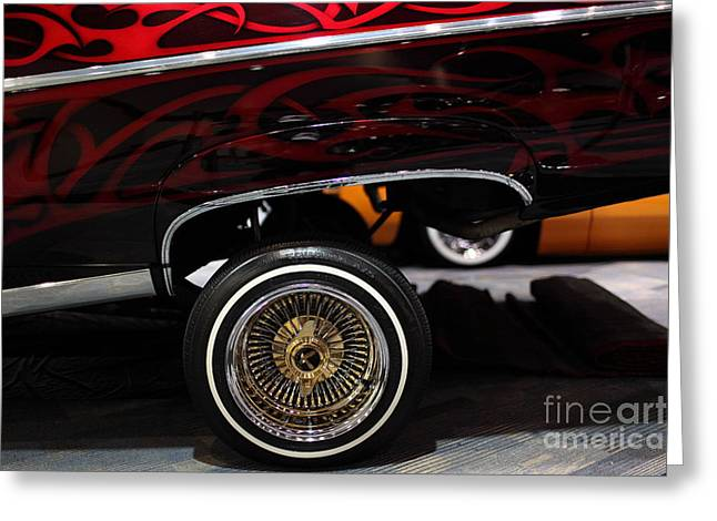 Chevrolet Caprice Lowrider - 5D20241 Greeting Card by Wingsdomain Art and Photography