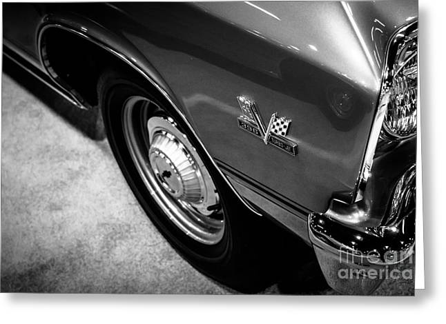 Chevrolet Chevelle 396 Black And White Picture Greeting Card by Paul Velgos
