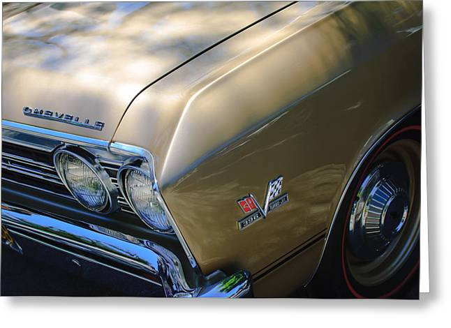 Chevrolet Chevelle Greeting Cards - Chevrolet Chevelle SS Headlight Emblems Greeting Card by Jill Reger