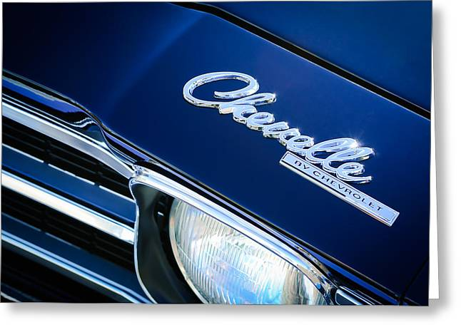 Chevrolet Chevelle Greeting Cards - Chevrolet Chevelle SS Hood Emblem Greeting Card by Jill Reger