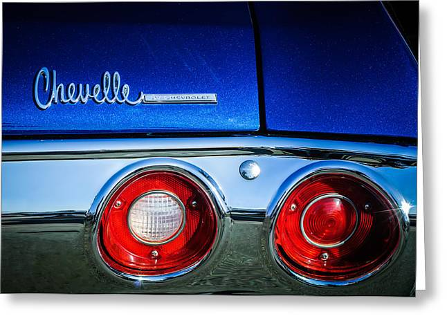 Chevrolet Chevelle Greeting Cards - Chevrolet Chevelle SS Taillight Emblem -0015c Greeting Card by Jill Reger