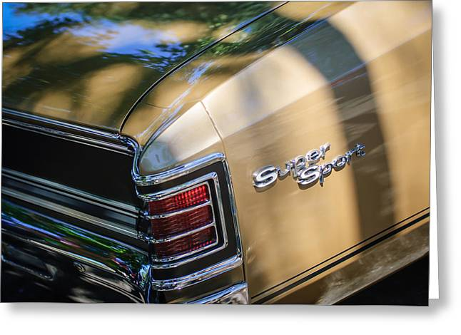 Chevrolet Chevelle Greeting Cards - Chevrolet Chevelle SS Taillight Emblems Greeting Card by Jill Reger