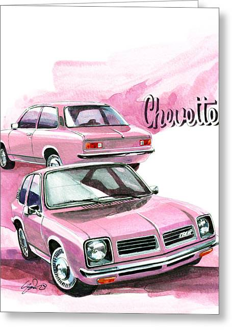 Gm Greeting Cards - Chevrolet Chevette Greeting Card by Yoshiharu Miyakawa