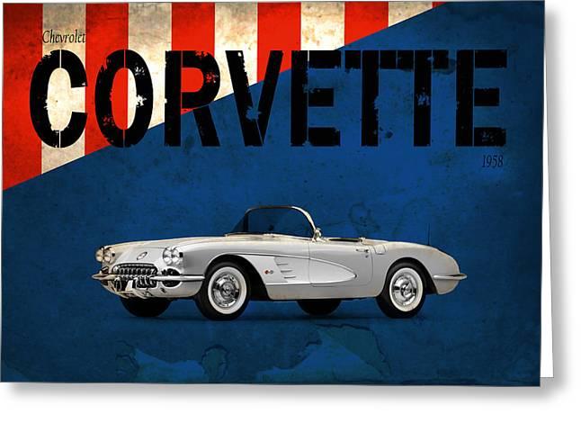 Chevrolet Corvette 1958 Greeting Card by Mark Rogan