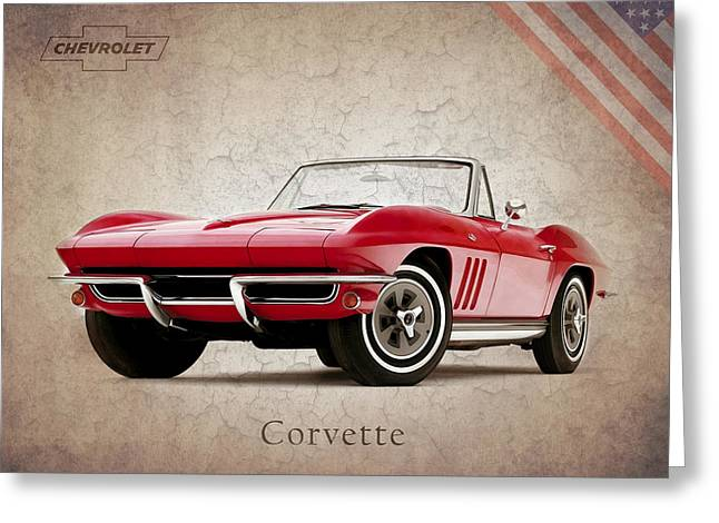 Chevrolet Greeting Cards - Chevrolet Corvette 1965 Greeting Card by Mark Rogan