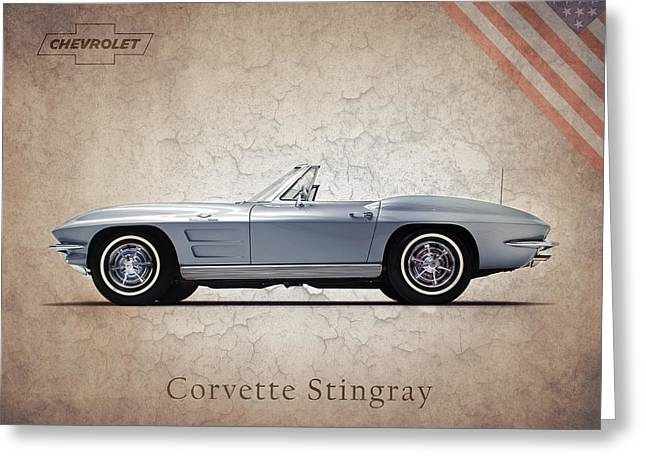 Chevrolet Photographs Greeting Cards - Chevrolet Corvette Stingray 327 Greeting Card by Mark Rogan