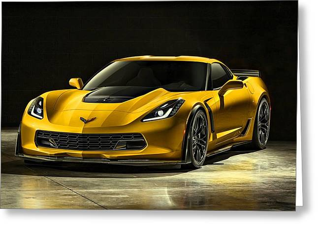 Movie Poster Prints Greeting Cards - Chevrolet Corvette Z06  Greeting Card by Movie Poster Prints