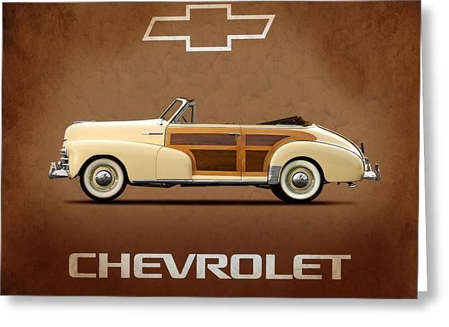 Fleetmaster Greeting Cards - Chevrolet Fleetmaster Pillow Greeting Card by Mark Rogan