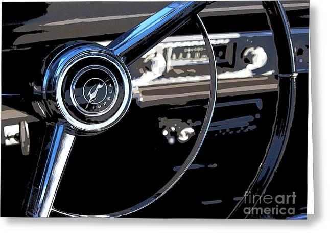 Road Trip Greeting Cards - Chevrolet Impala Greeting Card by Elena Nosyreva
