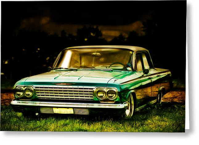 Phil Motography Clark Greeting Cards - Chevrolet Impala Greeting Card by motography aka Phil Clark