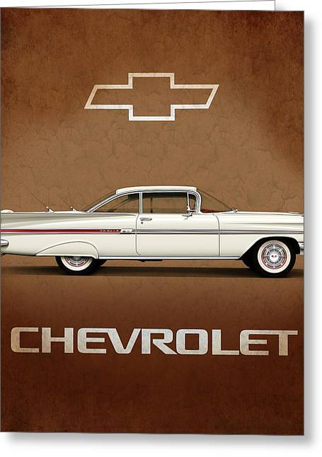 Chevrolet Photographs Greeting Cards - Chevrolet Impala Pillow Greeting Card by Mark Rogan