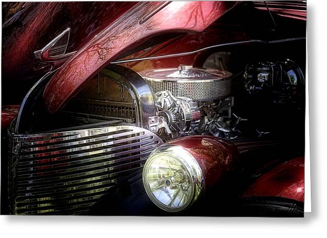 Red Street Rod Greeting Cards - Chevrolet Master Deluxe 1939 Greeting Card by Tom Mc Nemar