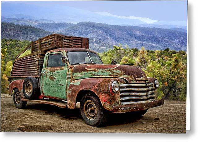 Auto-portrait Greeting Cards - Chevrolet of the Mountains Greeting Card by Nikolyn McDonald