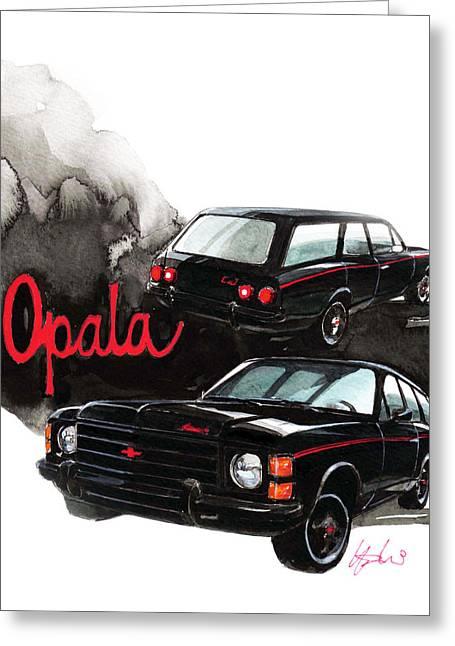 Station Wagon Greeting Cards - Chevrolet Opala Greeting Card by Yoshiharu Miyakawa