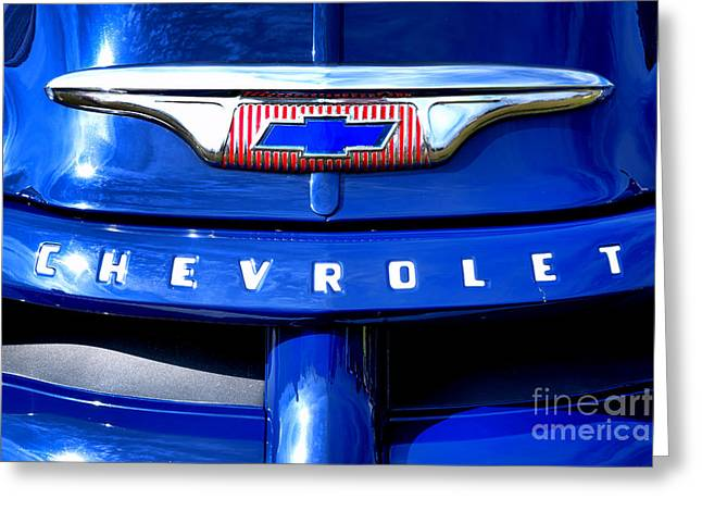 Chevy Pickup Greeting Cards - Chevrolet Pickup Hood Ornament Greeting Card by Olivier Le Queinec