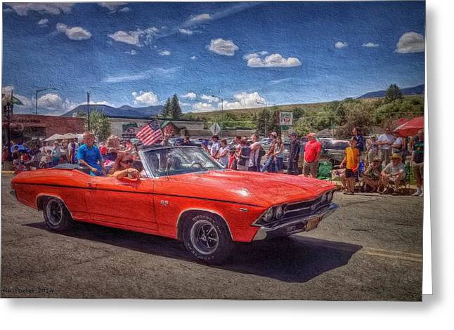 Small Convertible Greeting Cards - Chevrolet SS Convertible Greeting Card by Victoria Porter