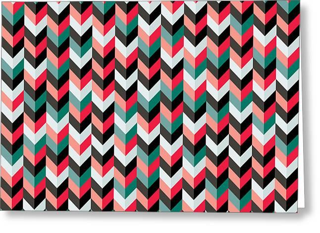 Mike Taylor Greeting Cards - Chevron Greeting Card by Mike Taylor