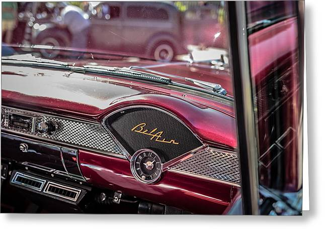 Dash Greeting Cards - Chevy Bel Air Dash Greeting Card by Edward Fielding