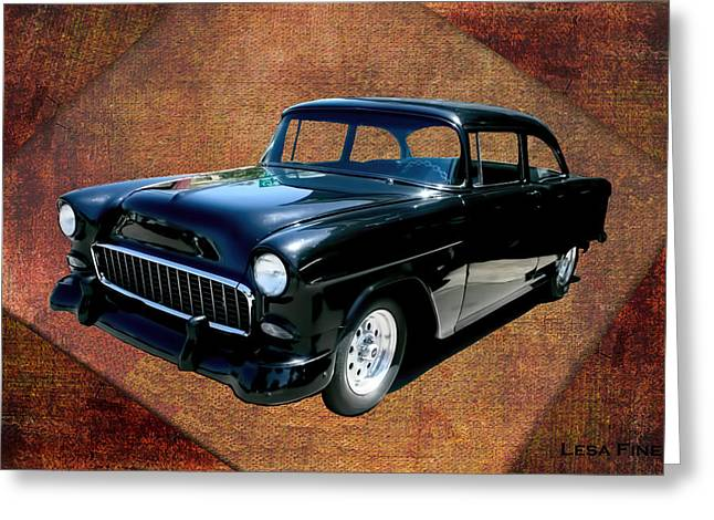 Collector Cars Greeting Cards - Chevy Car Art Nbr 459 Greeting Card by Lesa Fine