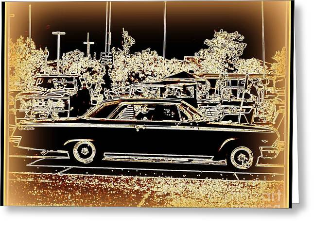 Matting Greeting Cards - Chevy Glow Greeting Card by Bobbee Rickard