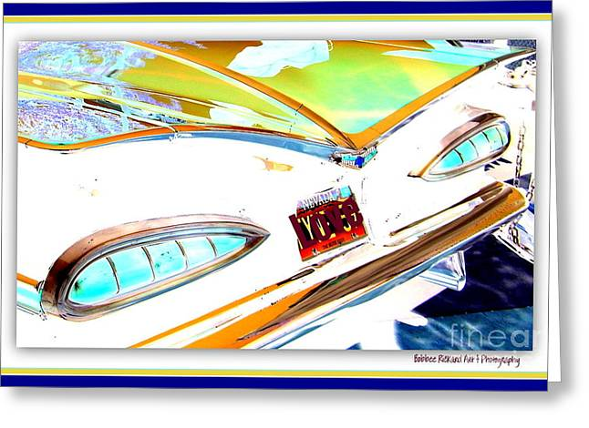 Print On Acrylic Greeting Cards - Chevy Gone Bananas Greeting Card by Bobbee Rickard