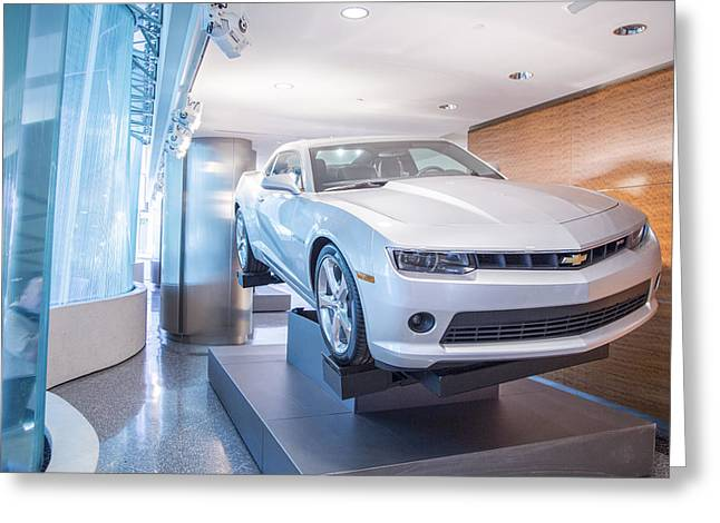 Renaissance Center Greeting Cards - Chevy in Renaissance Center Greeting Card by John McGraw