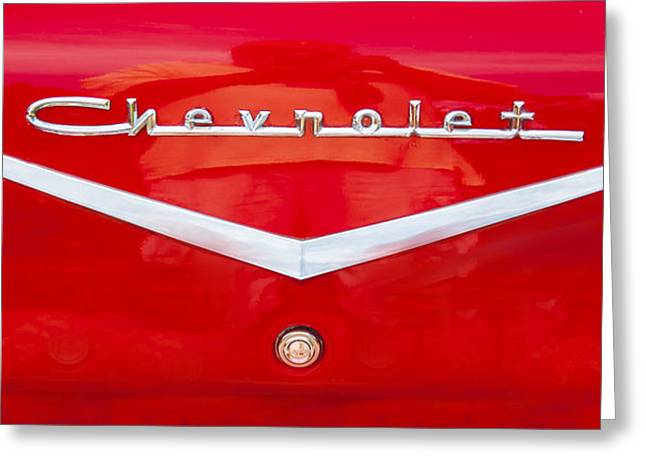 Chevy Logo 1957 Greeting Card by Rich Franco