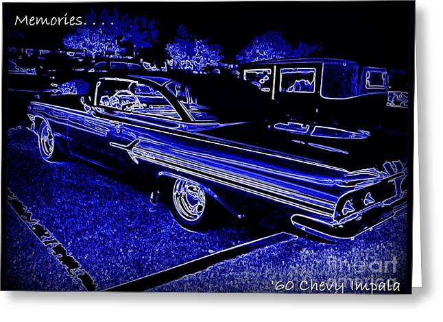1960 Greeting Cards - Chevy Memories Greeting Card by Bobbee Rickard