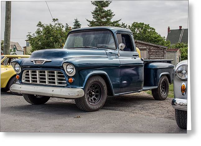 Subcompact Greeting Cards - Chevy Pickup Greeting Card by Crystal Fudge