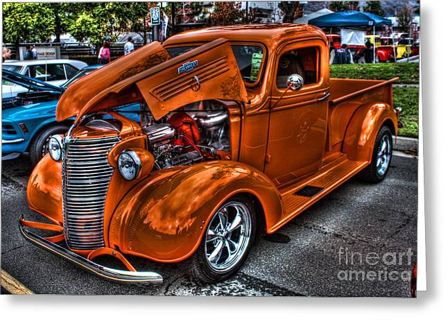 Yorba Greeting Cards - Chevy Pickup Street Rod Greeting Card by Tommy Anderson