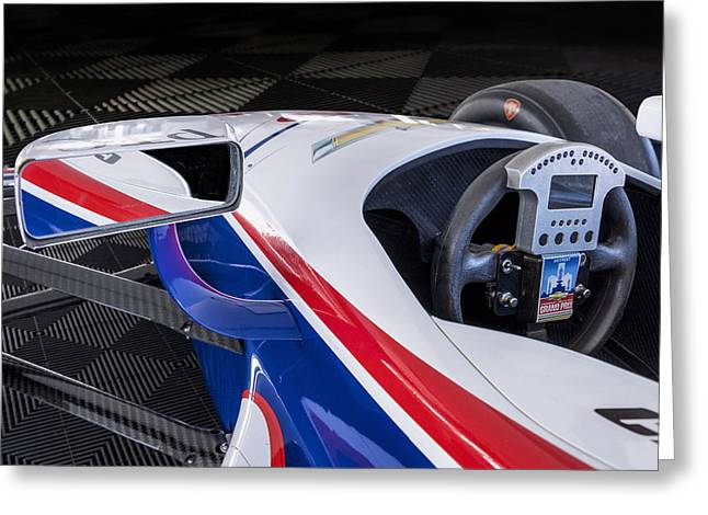 Chevy Powered Indy Car Detail Greeting Card by Gary Warnimont
