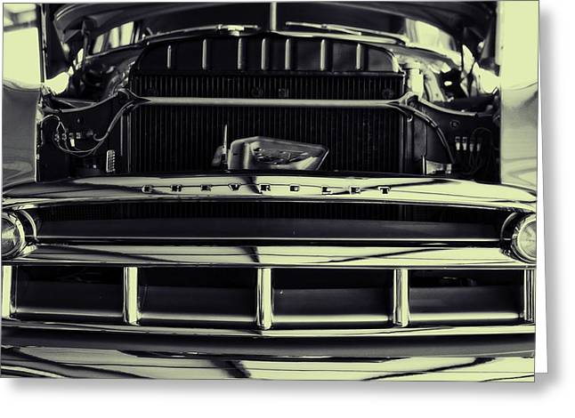 Powerful Car Greeting Cards - Chevy Runs Deep Greeting Card by Dan Sproul