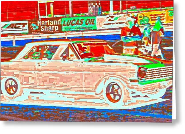 Chevy Shoe Box Greeting Card by James Eye