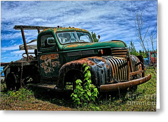 Karen Walker Greeting Cards - Chevy Truck 3 Greeting Card by Karen Walker