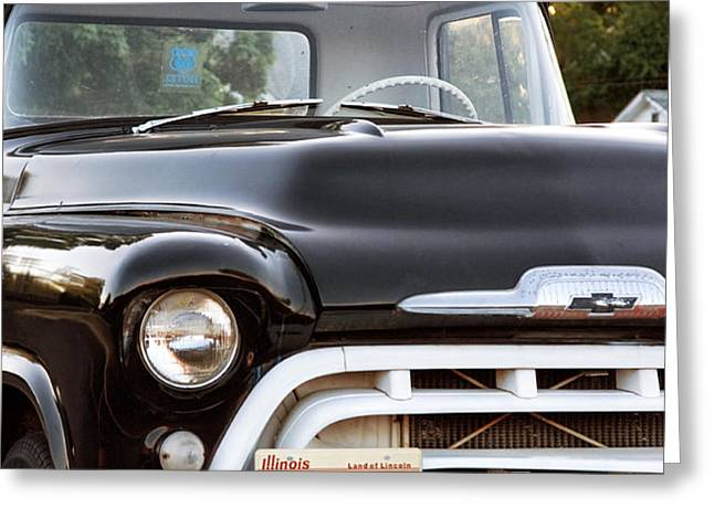Chevy Truck Greeting Card by John Rizzuto
