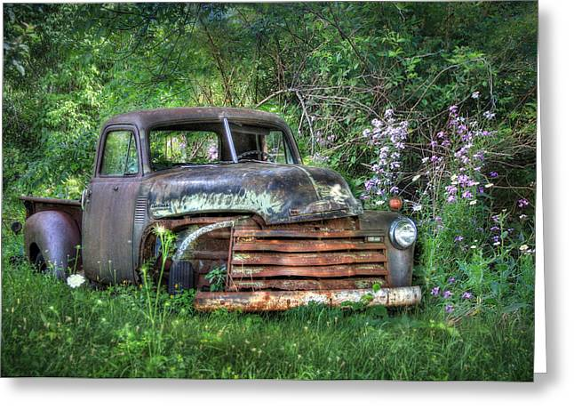 Truck Digital Greeting Cards - Chevy Truck Greeting Card by Lori Deiter