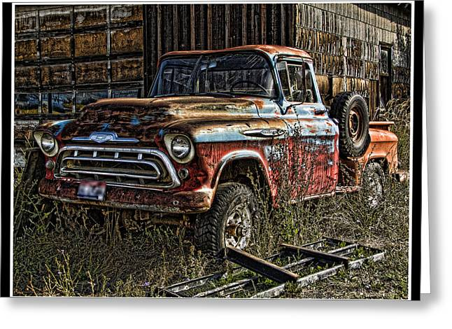 Ron Roberts Photography Greeting Cards Greeting Cards - Chevy Truck Greeting Card by Ron Roberts