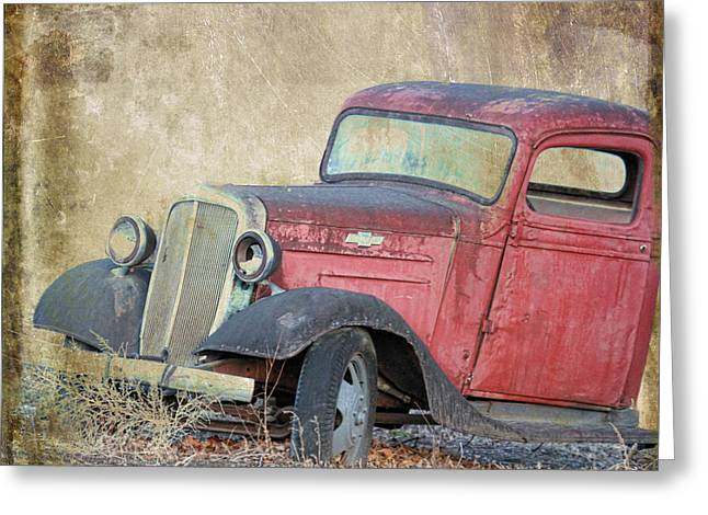 1950 Merc Greeting Cards - Chevy Trucks Greeting Card by Steve McKinzie