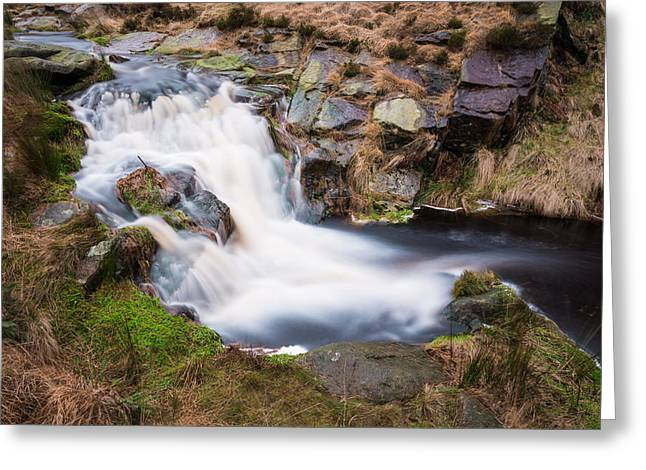 Hike Greeting Cards - Chew Brook Greenfield. Greeting Card by Daniel Kay