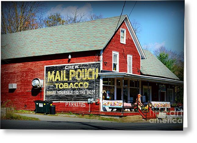 Chewing Tobacco Greeting Cards - Chew Mail Pouch Tobacco Ad Greeting Card by Paul Ward
