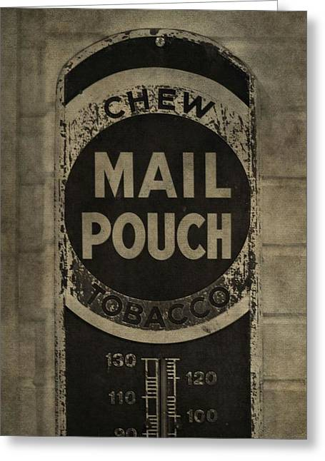 Chewing Tobacco Greeting Cards - Chew Mail Pouch Tobacco Greeting Card by Dan Sproul