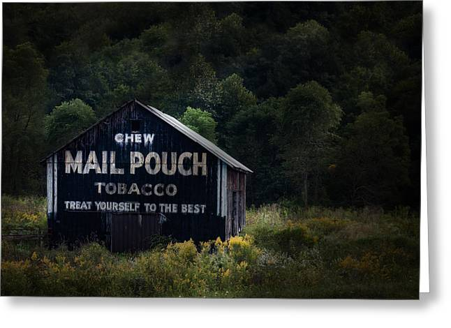 Backroads Greeting Cards - Chew Mailpouch Greeting Card by Tom Mc Nemar
