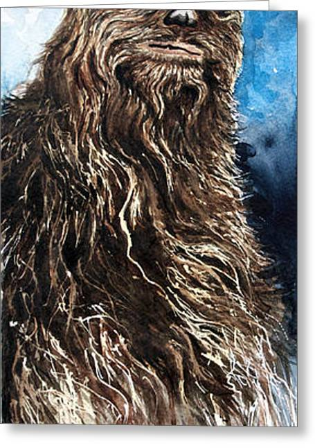 Chewbacca Greeting Card by David Kraig